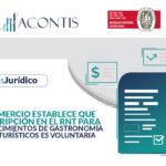 mincomercio establece que la inscripción en el RNT ara establecimientos de gastronomía y bares turísticos es voluntaria